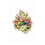 Springtime Easter Basket Rectangle Sticker 10 pk)
