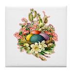 Springtime Easter Basket Tile Coaster