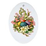 Springtime Easter Basket Oval Ornament