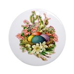 Springtime Easter Basket Ornament (Round)