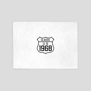 Classic US 1968 5'x7'Area Rug