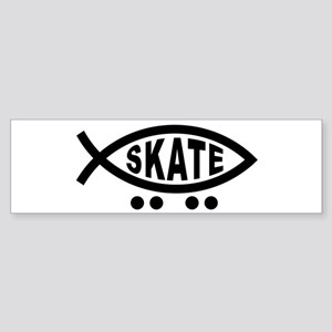 Skating Fish Bumper Sticker
