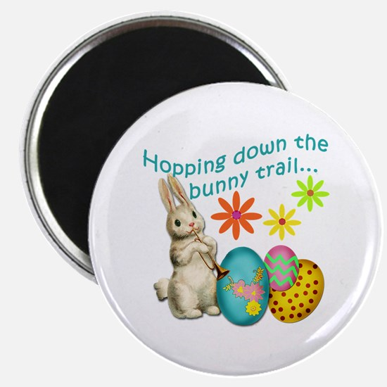 """Hopping Down the Bunny Trail 2.25"""" Magnet (100 pac"""
