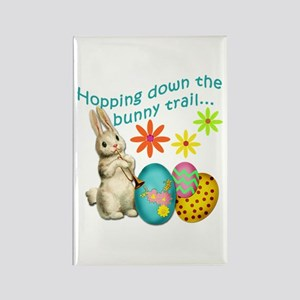 Hopping Down the Bunny Trail Rectangle Magnet