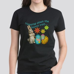 Hopping Down the Bunny Trail Women's Dark T-Shirt