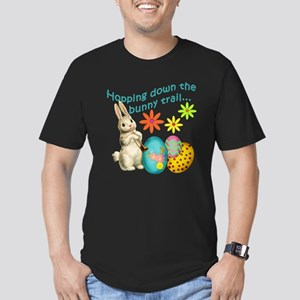 Hopping Down the Bunny Trail Men's Fitted T-Shirt