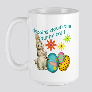 Hopping Down the Bunny Trail Large Mug