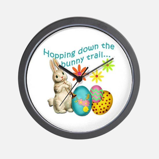Hopping Down the Bunny Trail Wall Clock