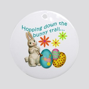 Hopping Down the Bunny Trail Ornament (Round)
