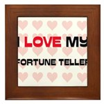 I Love My Fortune Teller Framed Tile