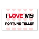 I Love My Fortune Teller Rectangle Sticker