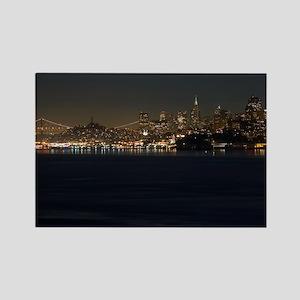 san Francisco bay night Rectangle Magnet