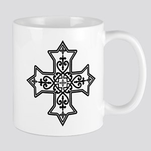 Black and White Coptic Cross Mug