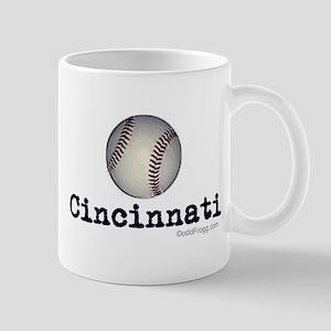 oddFrogg Peace Love Cincinnati Mug