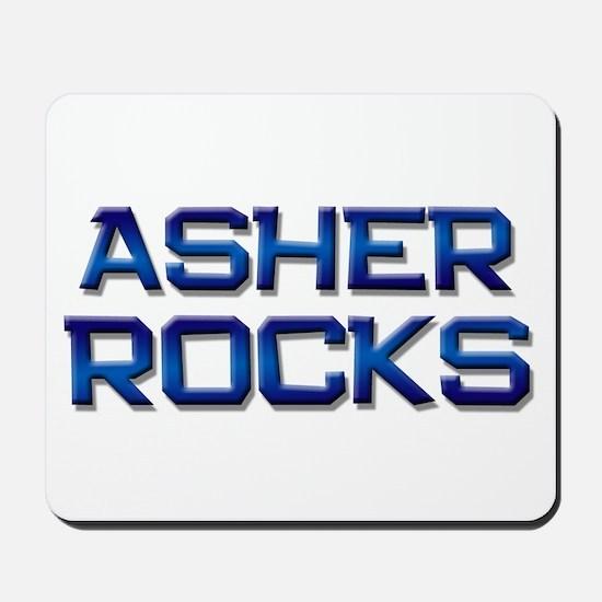 asher rocks Mousepad
