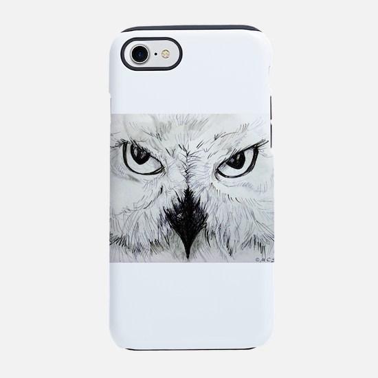 Owl! Wildlife, bird art! iPhone 7 Tough Case