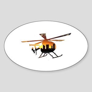 Sunset Choppa Oval Sticker