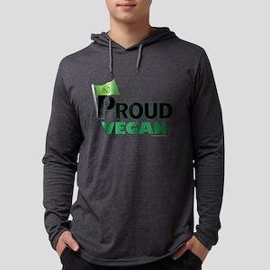 Proud Vegan Mens Hooded Shirt Long Sleeve T-Shirt