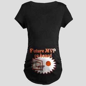 Basketball Future MVP on board #2 Maternity Dark T