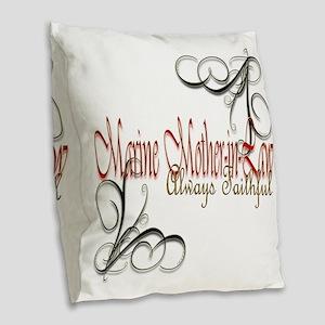 Swirl Mother-In-Law Burlap Throw Pillow
