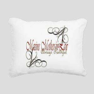 Swirl M-I-L Rectangular Canvas Pillow