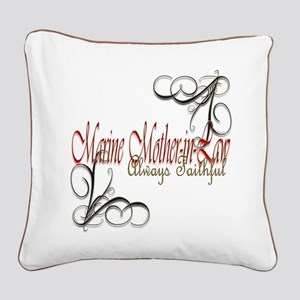 Swirl Mother-In-Law Square Canvas Pillow