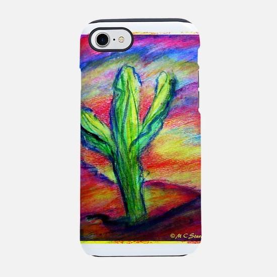 Saguaro Cactus, Southwest art! iPhone 7 Tough Case