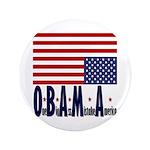 """O*B*A*M*A 3.5"""" Button (100 pack)"""
