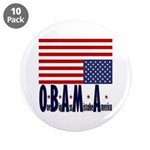 """O*B*A*M*A 3.5"""" Button (10 pack)"""