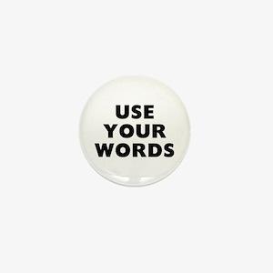Use Words Mini Button