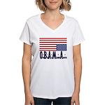 O*B*A*M*A Women's V-Neck T-Shirt