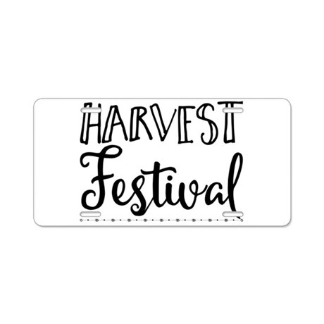 Harvest Festival Aluminum License Plate by ADMIN_CP13764613