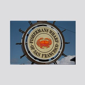 fishermans wharf Rectangle Magnet
