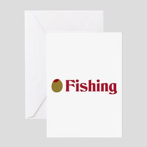 Olive (I Love) Fishing Greeting Card