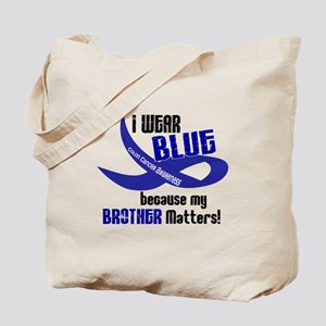 I Wear Blue For My Brother 33 CC Tote Bag