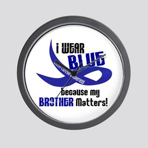 I Wear Blue For My Brother 33 CC Wall Clock