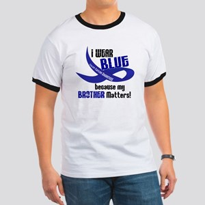 I Wear Blue For My Brother 33 CC Ringer T