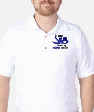 I Wear Blue For My Brother 33 CC Golf Shirt