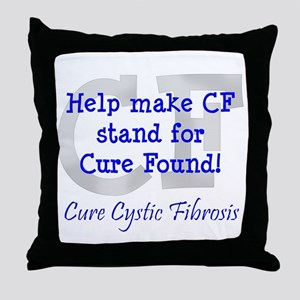 Blue CF Cure Found Throw Pillow