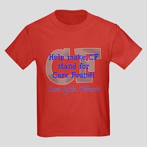 Blue CF Cure Found Kids Dark T-Shirt