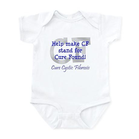 Blue CF Cure Found Infant Bodysuit