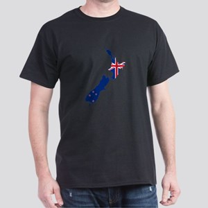Flag Map of New Zealand T-Shirt
