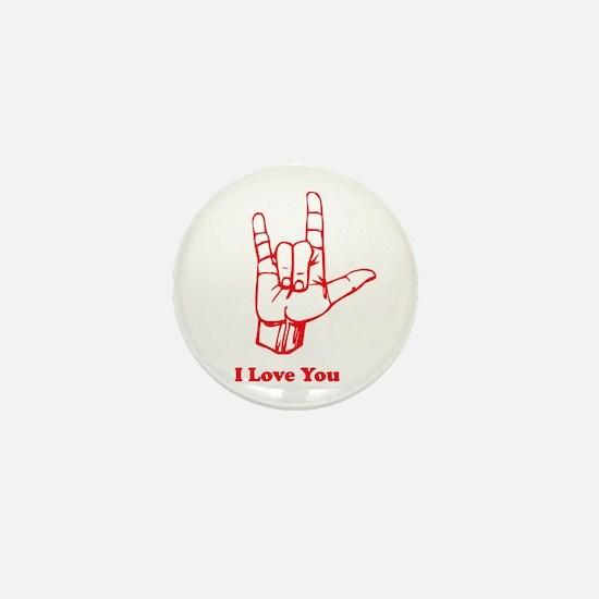 I love You Mini Button