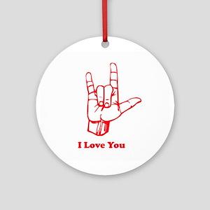 I love You Ornament (Round)