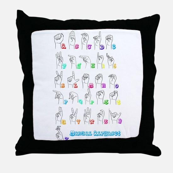 Manual Alphbet Throw Pillow