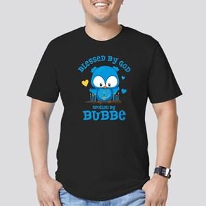 Blessed Owl Bubbe Men's Fitted T-Shirt (dark)