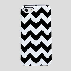 Black And White Chevron Pattern iPhone 7 Tough Cas