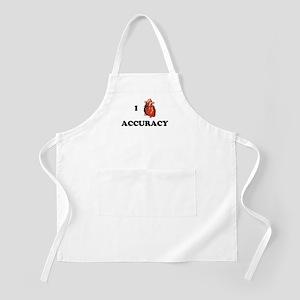 I <3 Accuracy BBQ Apron
