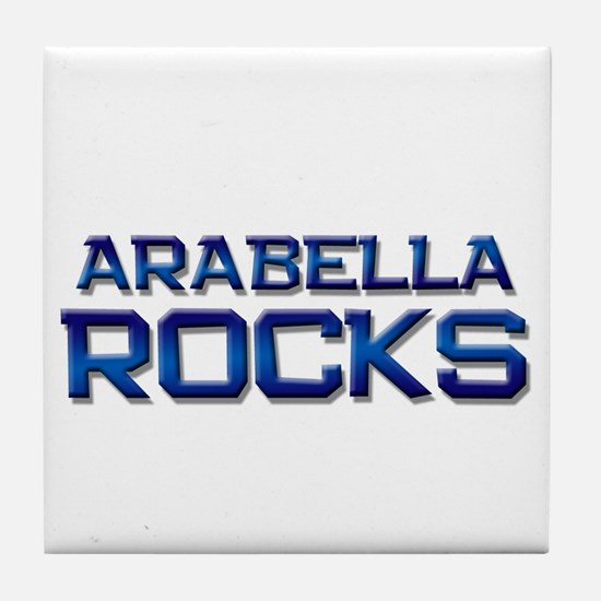 arabella rocks Tile Coaster