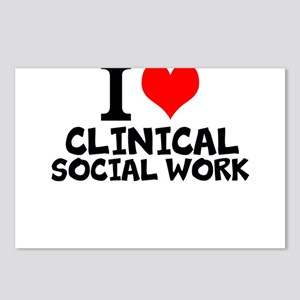 I Love Clinical Social Work Postcards (Package of
